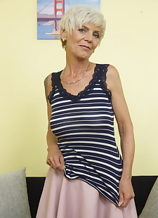 sex images Horny british housewife playing alone, granny