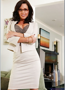 sex images Gorgeous mature teacher in glasses, big tits , stockings