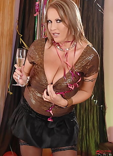 sex images Chubby older broad Laura Orsolya, big tits , stockings  big-tits