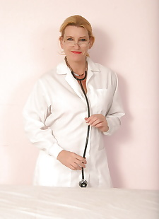 sex images Lusty mature nurse in stockings, stockings , lingerie
