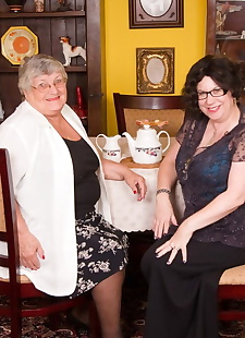 sex images Obese nan Grandma Libby and her friend, big tits , reality