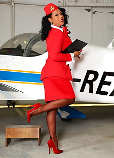 sex images Hot flight attendant Danica Collins, big tits , stockings