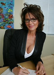 sex images Mature teacher with huge tits Deauxma, uniform