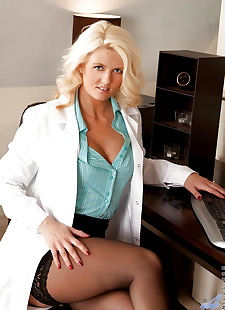 sex images Mature blonde doctor getting rid of, stockings , blonde